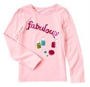 """Футболка Crazy8, цвет розовый, принт """"Fabulous"""""""