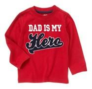 """Футболка Crazy8, цвет красный, аппликация """"Dad is my Hero"""""""