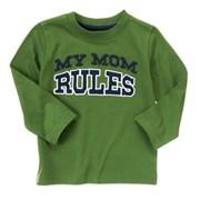 "Футболка Crazy8, цвет зеленый, аппликация ""My mom rules"""