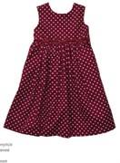 Платье в горох Carters, цвет бордовый.