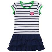 Платье трикотажное в полоску Carters, цвет темно-синий-белый