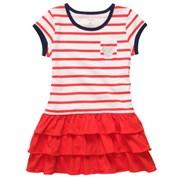 Платье трикотажное в полоску Carters, цвет красный/белый