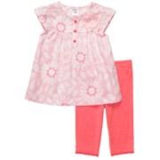 Комплект топ+леггинсы Carters, цвет розовый