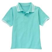 Футболка-поло Gymboree однотонная, цвет голубой