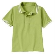 Футболка-поло Gymboree однотонная, цвет зеленое яблоко