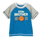 "Футболка Gymboree c аппликацией ""Little brother 2013"""