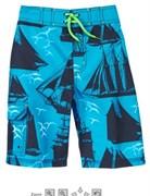 Плавки-шорты, цвет голубой/темно-синий
