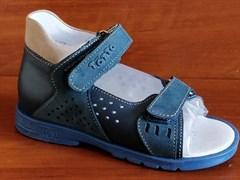 Босоножки Тотто 025-3,13,18, цвет синий, размеры 23-26