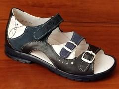 Босоножки Тотто, модель 1027-2,13,43,9, цвет темно-синий/синий/белый, размеры 32-34