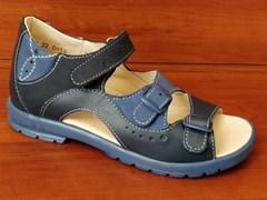 Босоножки Тотто, модель 1027-3,43,13, цвет темно-синий/синий, размеры 27-34