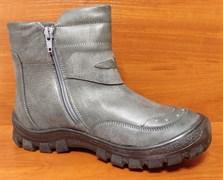 Ботинки зимние Тотто 311-М52, цвет темно-серый, размеры 31-36