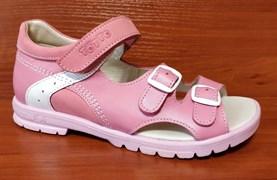 Босоножки Тотто, модель 10212-117.87.9, цвет розовый/белый, размеры 32-34