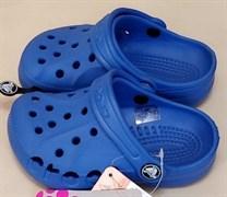 Сабо Crocs Kids' Baya, цвет голубой.