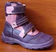 Ботинки на байке Тотто 210-056,021 деми (сирень), размеры 26-30