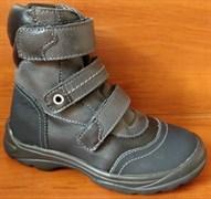 Ботинки на байке Тотто 210-21,1,52-1 деми (черный-серый), размеры 26-30