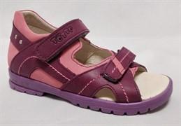 Босоножки Тотто 10215-87,016,021, бордовый,розовый, размеры 27-31