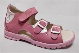 Босоножки Тотто, модель 1027-117,87,9 , цвет розовый/белый, размеры 27-34
