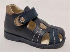 Босоножки Тотто 076-2.13.18, цвет синий/бежевый, размеры 21-26