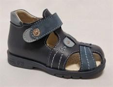Босоножки Тотто 076-2.13.09, цвет синий/голубой, размеры 21-26