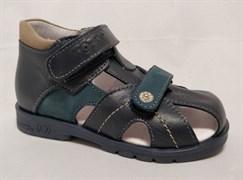 Босоножки Тотто 054-2,18,13, цвет синий, размеры 23-26