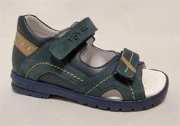 Босоножки Тотто, модель 10215-3,43,18, цвет синий, размеры 27-31