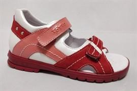 Босоножки Тотто, модель 10215-9,46,236, цвет бел-красн, размеры 27-31