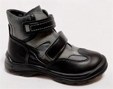 Ботинки на байке Тотто 211-1.52 (черный-серый), размеры 26-30