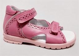 Босоножки Тотто, модель 10216-117,022, цвет розовый, размеры 27-34