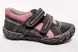 Полуботинки Тотто 223-221,237, цвет серый/розовый, размеры 26-29