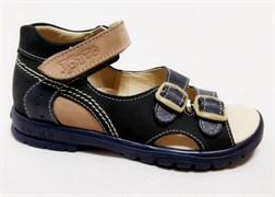 Босоножки Тотто, модель 10212-2,12,18, цвет темно-синий/бежевый, размеры 27-34