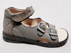 Босоножки Тотто, модель 10212-01,111, цвет серый, размеры 27-34
