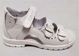 Босоножки Тотто, модель 1027-9,022, цвет белый, размеры 27-34